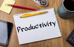 Productivity - Note Pad With Text Stock Photos