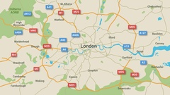 London Map Animation Stock Footage