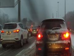 Traffic gridlock on highway Stock Footage