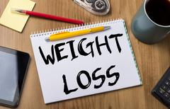 WEIGHT LOSS - Note Pad With Text Stock Photos