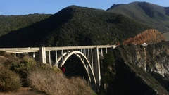 BIXBY CREEK BRIDGE, CALIFORNIA, UNITED STATES OF AMERICA, Timela.. Stock Footage