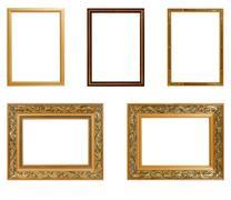 Set of vintage frame isolated on white background. Interior Design. Copy spac Stock Photos