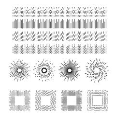 Dashed line vector pattern brushes Stock Illustration
