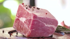 Frozen meat piece. Stock Footage