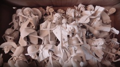 Cardboard box with skull Mexico Stock Footage