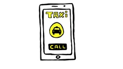 Taxi app on Smartphone Scribble Animation Doodle Cartoon 4K Stock Footage