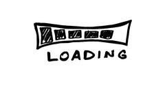 Loading Bar Scribble Animation Doodle White Background 4K Stock Footage