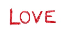 LOVE Red Word Scribble Animation Doodle Cartoon 4K Stock Footage