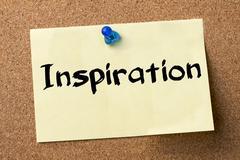 Inspiration - adhesive label pinned on bulletin board Kuvituskuvat