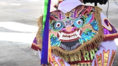 Decoration of costume, folklore Peru Stock Footage
