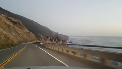 Driving on route highway 1, in Big sur, California, United states of america Stock Footage