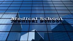 Medical School building Stock Footage