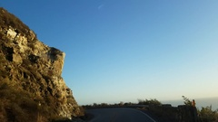 Driving on route highway 1, at a sunny, november evening, in Big sur, Calif.. Stock Footage