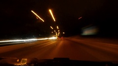 Timelapse hyperlapse of drive on route E18, from Turku towards Salo Stock Footage