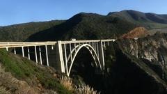 Bixby Creek Bridge time lapse Stock Footage
