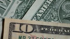 Rotating Ten Dollars Bill Motion Stock Footage