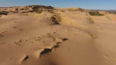 Aerial view of massive sand dunes, Northern Cape, South Africa Stock Footage