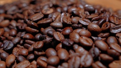Coffee Beans - amazing macro shot Stock Footage
