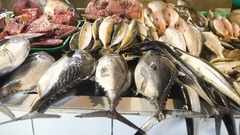 Fish in Asian market Stock Footage