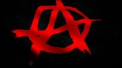 Anarchy Flag Stock Footage