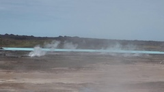 Surface of geysers on shores of Arctic Ocean in Greenland. General plan. Stock Footage