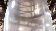 Plastic extrusion machine Stock Footage