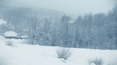 Country winter scenery. Stock Footage