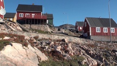 Life style on shore of Arctic Ocean from Greenland. Stock Footage