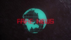 Fake News Title in a Retro Look Stock Footage