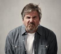 Angry man. Stock Photos