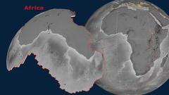 Africa tectonics featured. Elevation grayscale Stock Footage