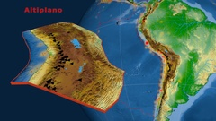 Altiplano tectonics featured. Physical Stock Footage