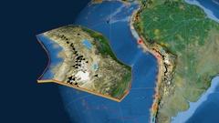 Altiplano tectonics featured. Satellite imagery Stock Footage