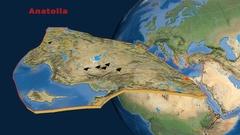 Anatolia tectonics featured. Satellite imagery Stock Footage
