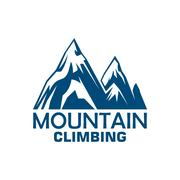 Mountain climbing adventure badge for sport design Piirros