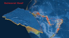 Balmoral Reef tectonics featured. Natural Earth Stock Footage