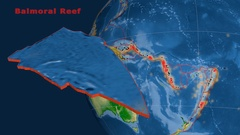 Balmoral Reef tectonics featured. Physical Stock Footage