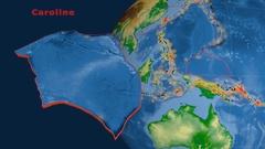 Caroline tectonics featured. Physical Stock Footage