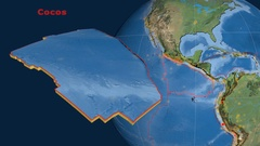Cocos tectonics featured. Satellite imagery Stock Footage