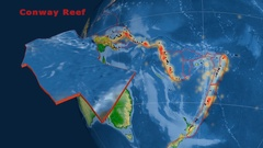 Conway Reef tectonics featured. Physical Stock Footage