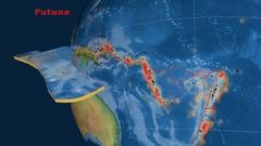 Futuna tectonics featured. Natural Earth Stock Footage