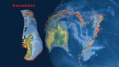 Kermadec tectonics featured. Relief Stock Footage