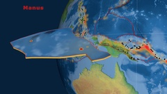 Manus tectonics featured. Natural Earth Stock Footage