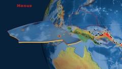Manus tectonics featured. Topography Stock Footage
