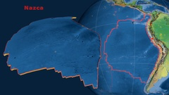 Nazca tectonics featured. Natural Earth Stock Footage