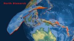 North Bismarck tectonics featured. Relief Stock Footage