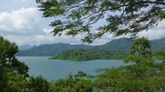 Cheow Lan Lake, Khao Sok National Park in Thailand Stock Footage