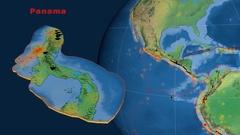 Panama tectonics featured. Natural Earth Stock Footage