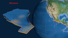 Rivera tectonics featured. Satellite imagery Stock Footage