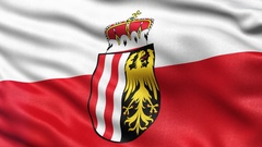 Upper Austria state flag seamless loop Stock Footage